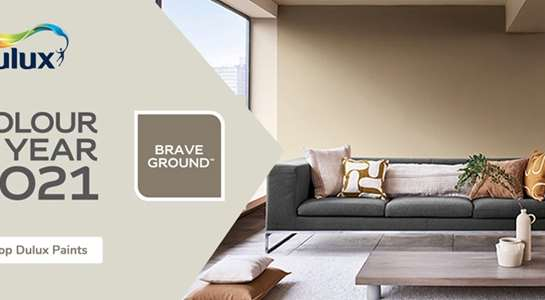 Introducing Brave Ground the Dulux Colour of the Year for 2021