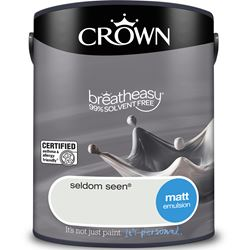 Buy 2 for £30 on Crown Breatheasy Matt Emulsion 2.5L Ready Mixed