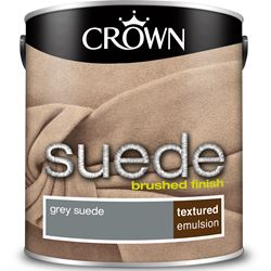 Buy 2 for £42 on Crown Suede Paint 2.5L Ready Mixed
