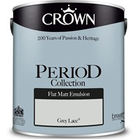 Buy 2 for £42 on Crown Period Collection Flat Matt 2.5L Ready Mixed