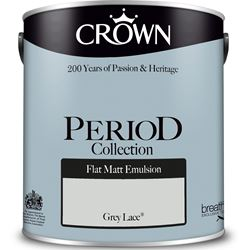 Buy 2 for £49 on Crown Period Collection Flat Matt 2.5L Mixed to Order