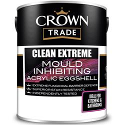 Crown Trade Clean Extreme Mould Inhibiting Acrylic Eggshell