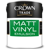 10% Off When You Buy 3 & Free Delivery on Crown Trade Matt Vinyl Emulsion 5L Mixed to Order