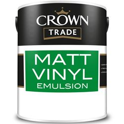 Buy 3 for £90 on Crown Trade Matt Vinyl Emulsion 5L Mixed to Order