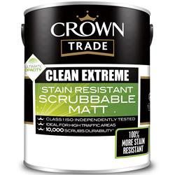 Crown Trade Clean Extreme Stain Resistant Scrubbable Matt