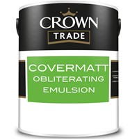 Buy 3 for £75 & Free Delivery on Crown Trade Covermatt Obliterating Emulsion 5L Mixed to Order