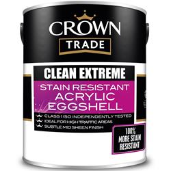 Crown Trade Clean Extreme Stain Resistant Acrylic Eggshell