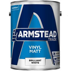 Buy 3 for £69 & Free Delivery on Armstead Trade Vinyl Matt 5L Ready Mixed Magnolia