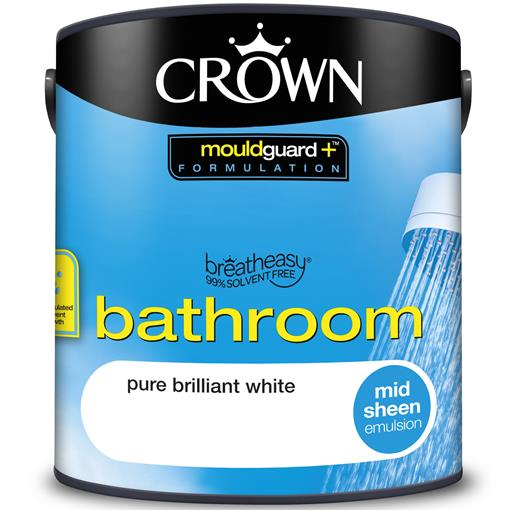 Crown Bathroom Paint Mouldguard Mid Sheen