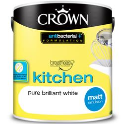Crown Kitchen Paint Anti-Bacterial Matt Emulsion