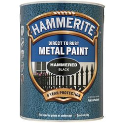 FREE Delivery on Hammerite Direct To Rust Metal Paint Hammered Finish 5L Ready Mixed