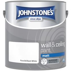 Buy 2 for £26 on Johnstone's Matt Emulsion 2.5L Ready Mixed