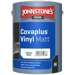 Buy 2 for £69 & Free Delivery on Johnstone's Trade Covaplus Vinyl Matt 5L Mixed to Order