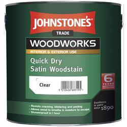 Johnstone's Trade Quick Dry Satin Woodstain