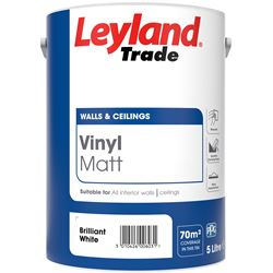 FREE Delivery on Leyland Trade Vinyl Matt 5L Mixed to Order