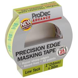 Rodo ProDec Advance Low Tack Precision Edge Masking Tape 24mm