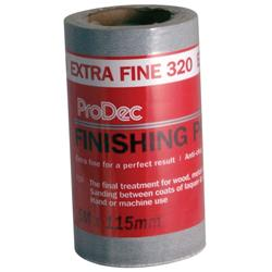 Rodo ProDec Extra Fine Finishing Paper 320 Grit 5 Mtr Roll
