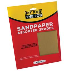Rodo Assorted Sandpaper Sheets PK5 FFTJ