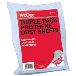 Rodo ProDec Triple Pack Polythene Dust Sheets 12'x 9'