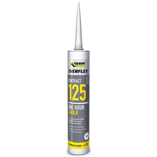 Everbuild 125 Decorators Caulk 380ml Box of 12 White