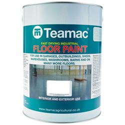 Buy 5 for £159 on Teamac Industrial Floor Paint 5L Ready Mixed