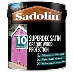 £10 Off When You Buy 2 & Free Delivery on Sadolin Superdec Opaque Wood Protection 5L Ready Mixed