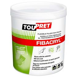 Toupret Fibacryl Flexible Filler Ready Mixed Tub 1 kg
