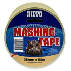 Hippo 38 mm x 50 mtr Roll Masking Tape