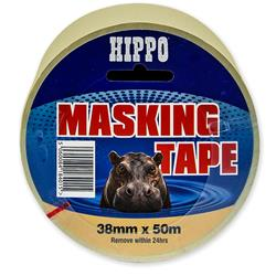 Hippo 50 mm x 50 mtr Roll Masking Tape