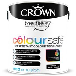 Buy 3 for £125 & Free Delivery on Crown Coloursafe Matt Emulsion 5L Mixed to Order