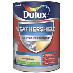 Buy 2 for £49 on Dulux Weathershield Smooth Masonry Paint 5L Ready Mixed