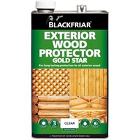 Buy 3 for £79 on Blackfriar Exterior Wood Protector Gold Star 5L Ready Mixed